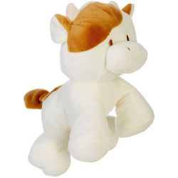 Kelly Baby Baby Boys Cow Plush Posable Rattle Toy