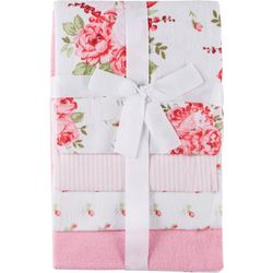 Laura Ashley Baby Girls 4-pk. Hydrangea Floral Baby Blankets