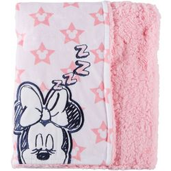 Disney Minnie Mouse Baby Girls Sherpa Stars Blanket
