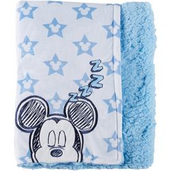 Disney Mickey Mouse Baby Boys Sherpa Stars Blanket