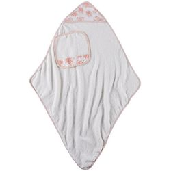 Laura Ashley Baby Girls 2-pc. Floral Dots Hooded Towel Set