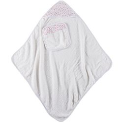 Laura Ashley Baby Girls 2-pc. Floral Hooded Towel Set