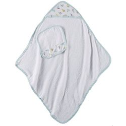 Laura Ashley Baby Boys 2-pc. Sailboat Hooded Towel Set