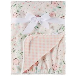 Laura Ashley Baby Girls Floral Print Baby Blanket