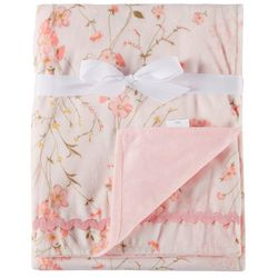 Laura Ashley Baby Girls Floral Vine Print Baby Blanket