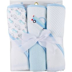 Buttons & Stitches Baby Boys 3-pc. Cars Hooded Towel Set