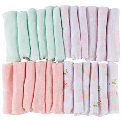 Little Beginnings Baby Girls 24-pc. Elephant Washcloth Set