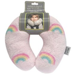 Blankets and Beyond Baby Girls Rainbow Travel Pillow