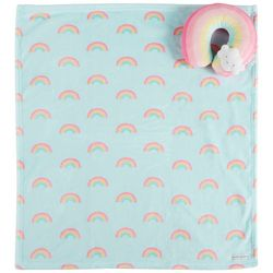 Blankets and Beyond Baby Girl 2-pc. Rainbow Blanket & Pillow
