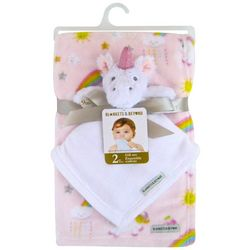 Blankets and Beyond Baby Girls 2-pc. Unicorn Nunu & Blanket