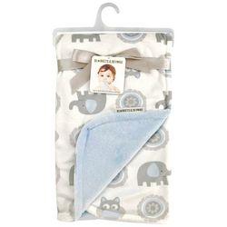 Blankets and Beyond Baby Boys Mandala Elephant Bla