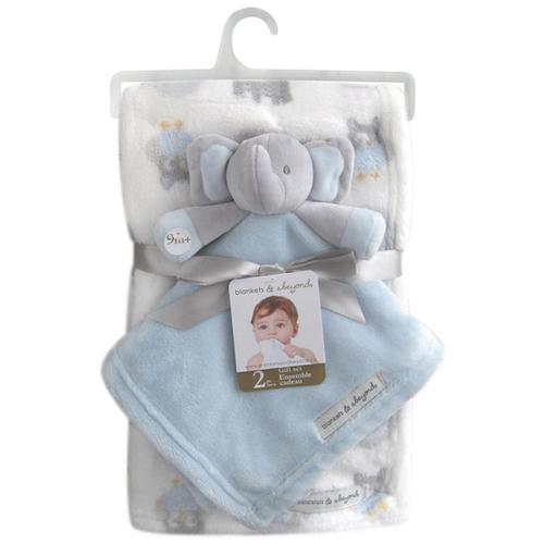 46b32152c Blankets and Beyond Baby Boys 2-pc. Elephant Blanket & Nunu
