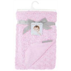 Blankets and Beyond Baby Girls Plush Rosette Blanket