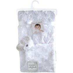 Blankets and Beyond Baby Girls Plush Rosette Bear Blanket