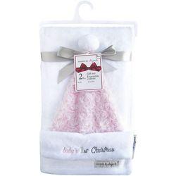 Blankets and Beyond Baby Girls 2-pc. Blanket & Santa Hat Set