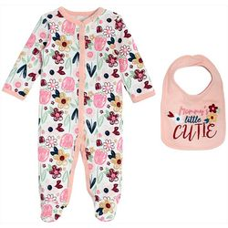 Chick Pea Baby Girls 2-pk. Floral Cutie Footie