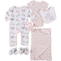 Mini Muffin Baby Girls 9-pc. Magical Deluxe Layette Set