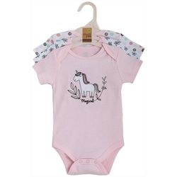 Chick Pea Baby Girls 3-pk. Unicorn Bodysuits