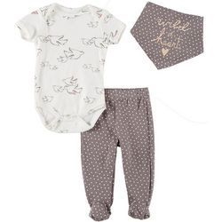 Chick Pea Baby Girls 3-pc. Wild At Heart