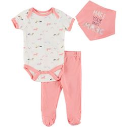 Chick Pea Baby Girls 3-pc. Make Your Magic Footie Pants Set