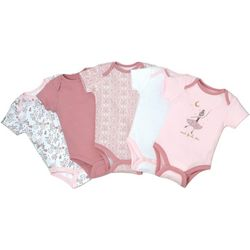 Kyle & Deena Baby Girls 5-pk. Reach For The Stars Bodysuits