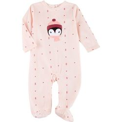 Baby Gear Baby Girls Penguin Snug Fit Footie Pajamas