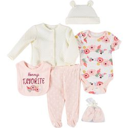 Chick Pea Baby Girls 9-pc. Quilted Floral Layette Set