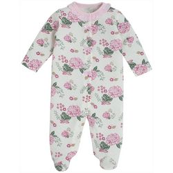 Kyle & Deena Baby Girls Ruffled Neckline Footie Pajamas