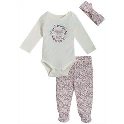 Kyle & Deena Baby Girls 3-pc. Mommys Little Love Pants Set