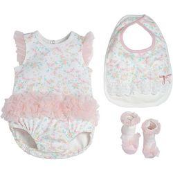 Kyle & Deena Baby Girls 3-pc. Floral Organza