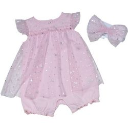 Kyle & Deena  Baby Girls 2-pc Star Print Lace Romper Set