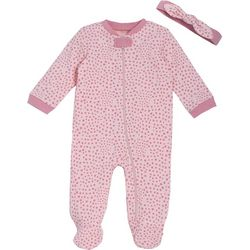 Chick Pea Baby Girls 2-pc. Polka Dot Footie