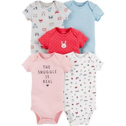 Carters Baby Girls 5-pk. The Snuggle Is Real Bodysuits