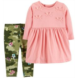 Carters Baby Girls Camouflage Leggings Dress Set