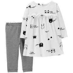 Carters Baby Girls Wild At Heart Leggings Dress Set