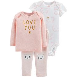 Carters Baby Girls 3-pc. Love You Layette Set