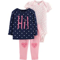 Carters Baby Girls 3-pc. Hi Hearts Layette Set