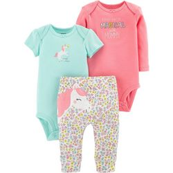 Carters Baby Girls 3-pc. Everyday Is Magical Layette Set