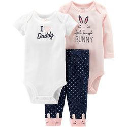Carters Baby Girls 3-pc. Little Snuggle Bunny Layette Set