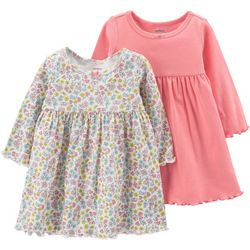 Carters Baby Girls 2-pk. Solid & Floral Dress Set