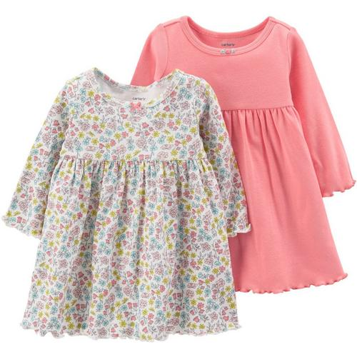 fc8e0a0426bf Carters Baby Girls 2-pk. Solid   Floral Dress Set