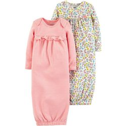 Carters Baby Girls 2-pk. Floral & Stripe Sleeper Gowns