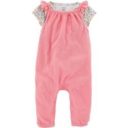Carters Baby Girls 2-pc. Talk-Style Jumpsuit Set