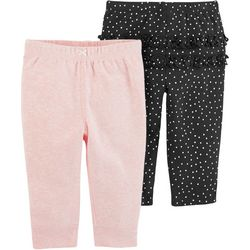 Carters Baby Girls 2-pk. Ruffle Dots Pull-On Pants