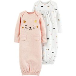 Carters Baby Girls 2-pk. Cat Babysoft Sleeper Gowns