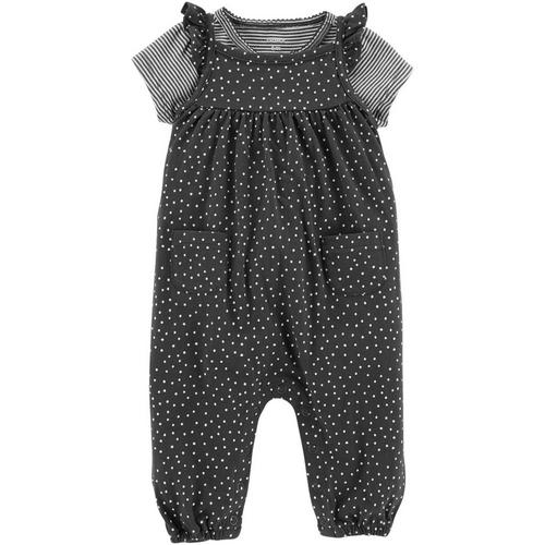 eae02f985 Carters Baby Girls 2-pc. Dots   Stripes Jumpsuit Set