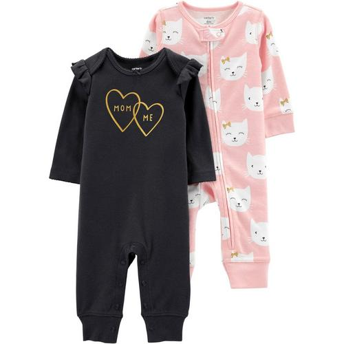 fd9477ef213b Carters Baby Girls 2-pk. Mom   Me Jumpsuits