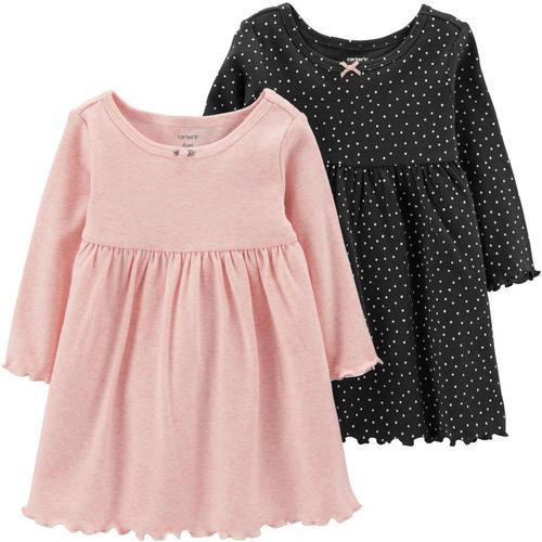 cfd6d6975 Carters Baby Girls 2-pk. Solid & Dot Dress Set | Bealls Florida