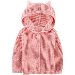 Carters Baby Girls Bear Hooded Jacket