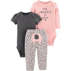 Carters Baby Girls 3-pc. The Snuggle Is Real Layette Set
